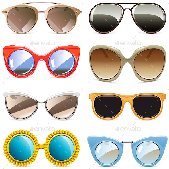 Vector Sun Glasses - Man-made Objects Objects