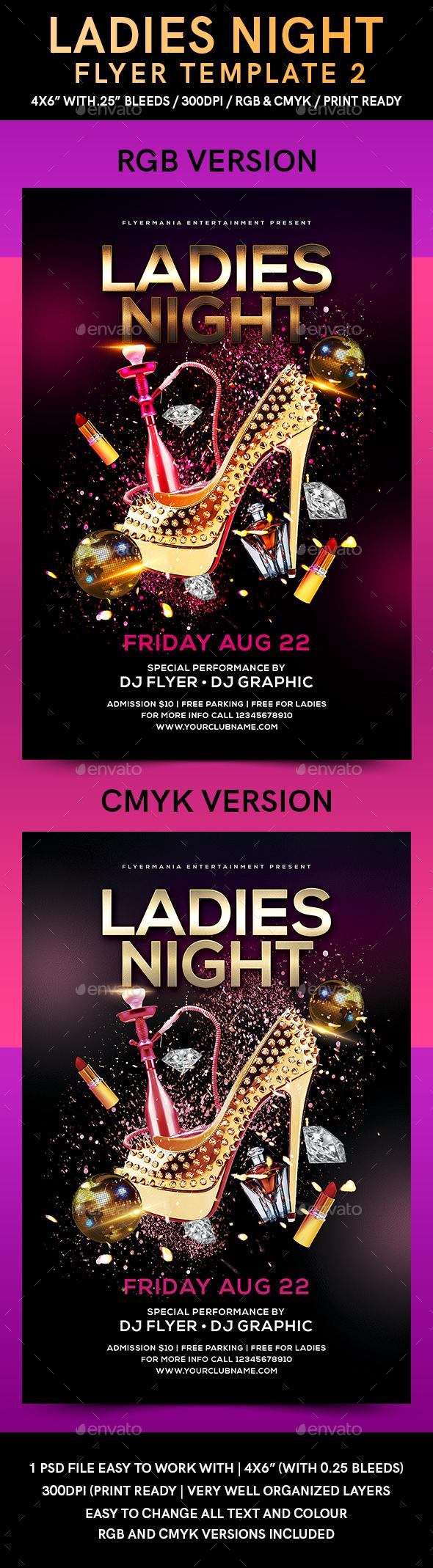 Ladies Night Flyer Template 2 - Flyers Print Templates
