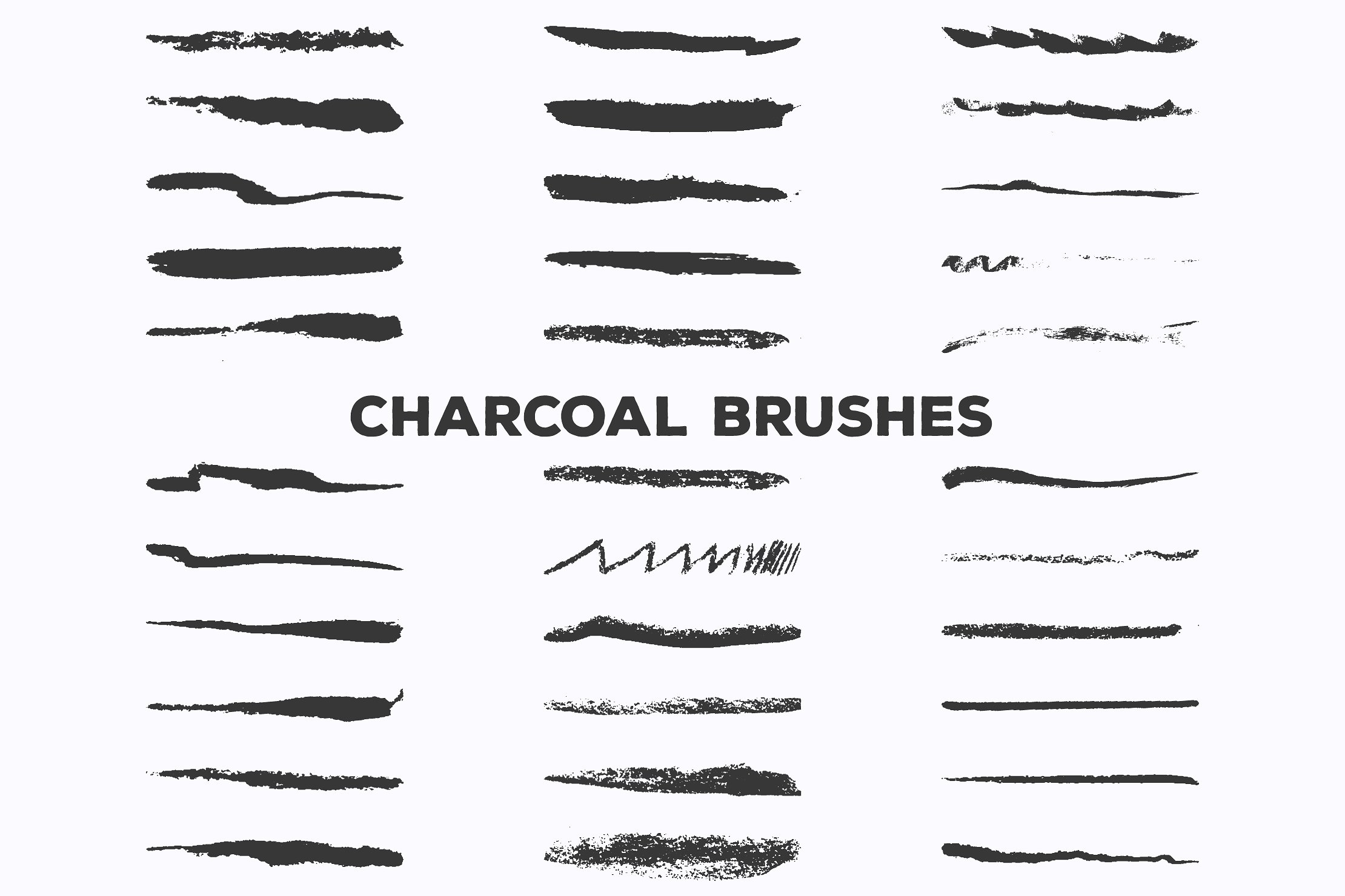 Pencil Charcoal Illustrator Brushes 157 Items By Est1987co
