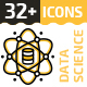32+ Data Science Line Icons