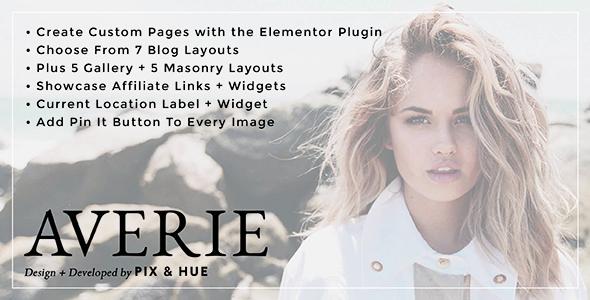 Averie - A Blog & Shop Theme - Blog / Magazine WordPress