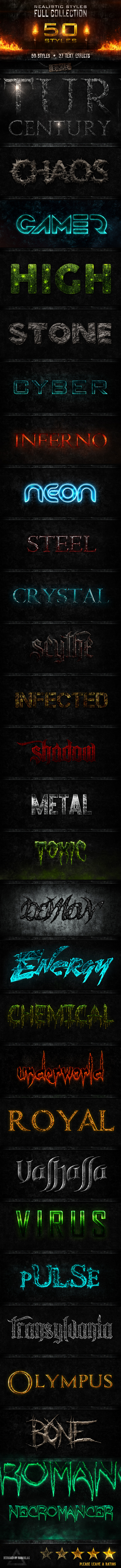 Realistic Styles BUNDLE - Text Effects Styles