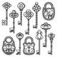 Vintage Ornamental Keys and Locks Collection - GraphicRiver Item for Sale