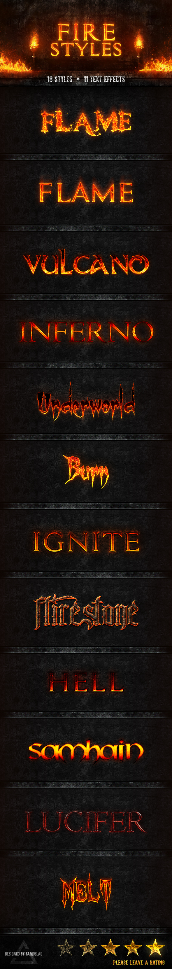 Fire Styles - Text Effects Styles