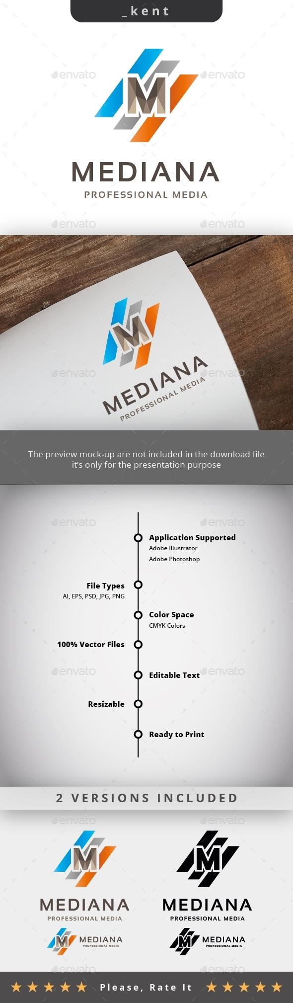 Media - Letter M  Logo - Letters Logo Templates