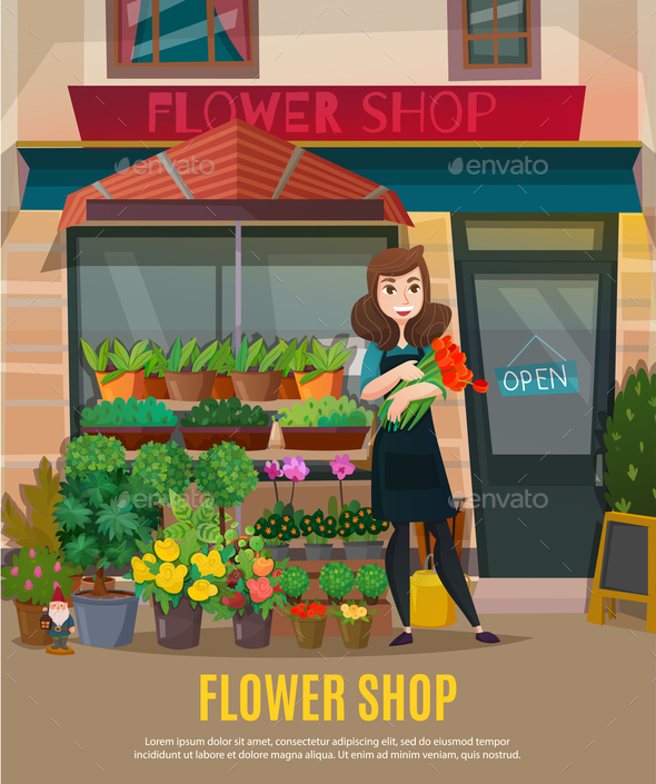 Flower Shop Illustration - Flowers & Plants Nature