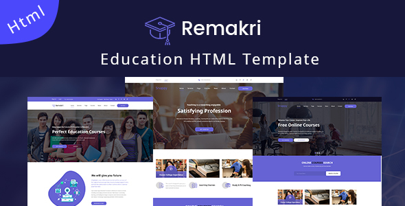 Remakri - Education Course HTML Template