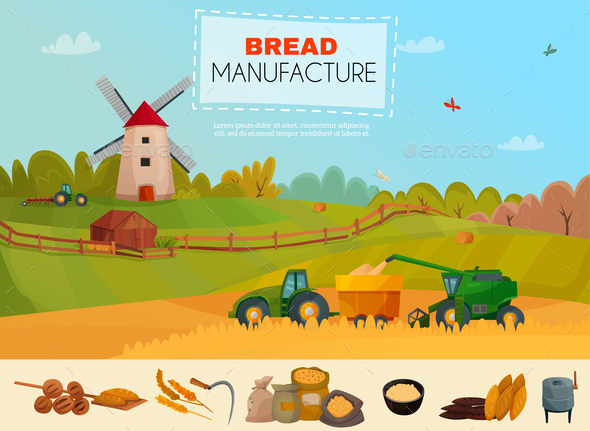 Bread Manufacture Poster - Food Objects