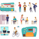People Social Classes Decorative Icons