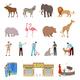 Zoo Flat Icons Set