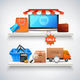 Items on Shelves Composition - GraphicRiver Item for Sale