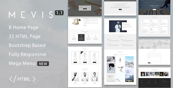 Mevis — Multipurpose HTML Template - Corporate Site Templates