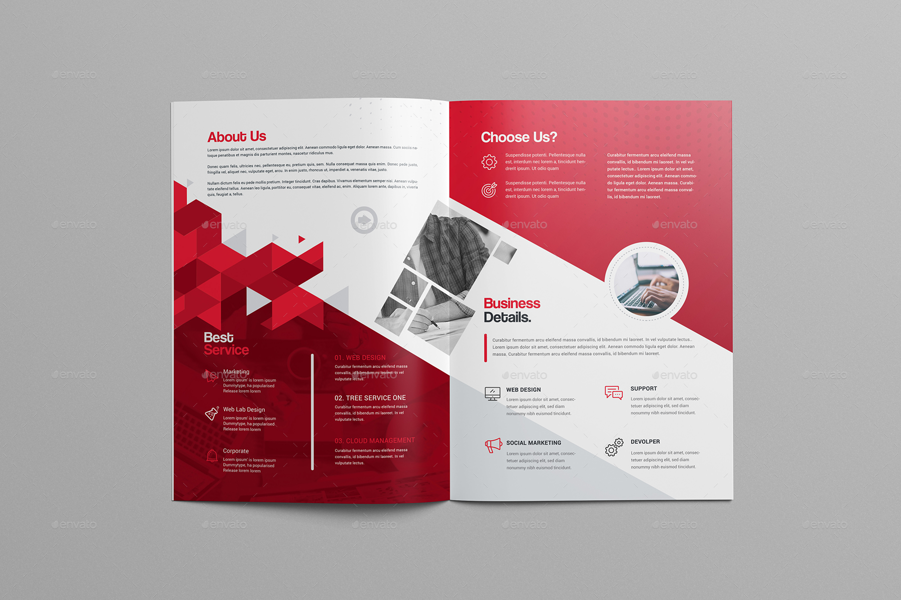 BiFold Brochure Template By Generousart GraphicRiver - Property management brochure templates