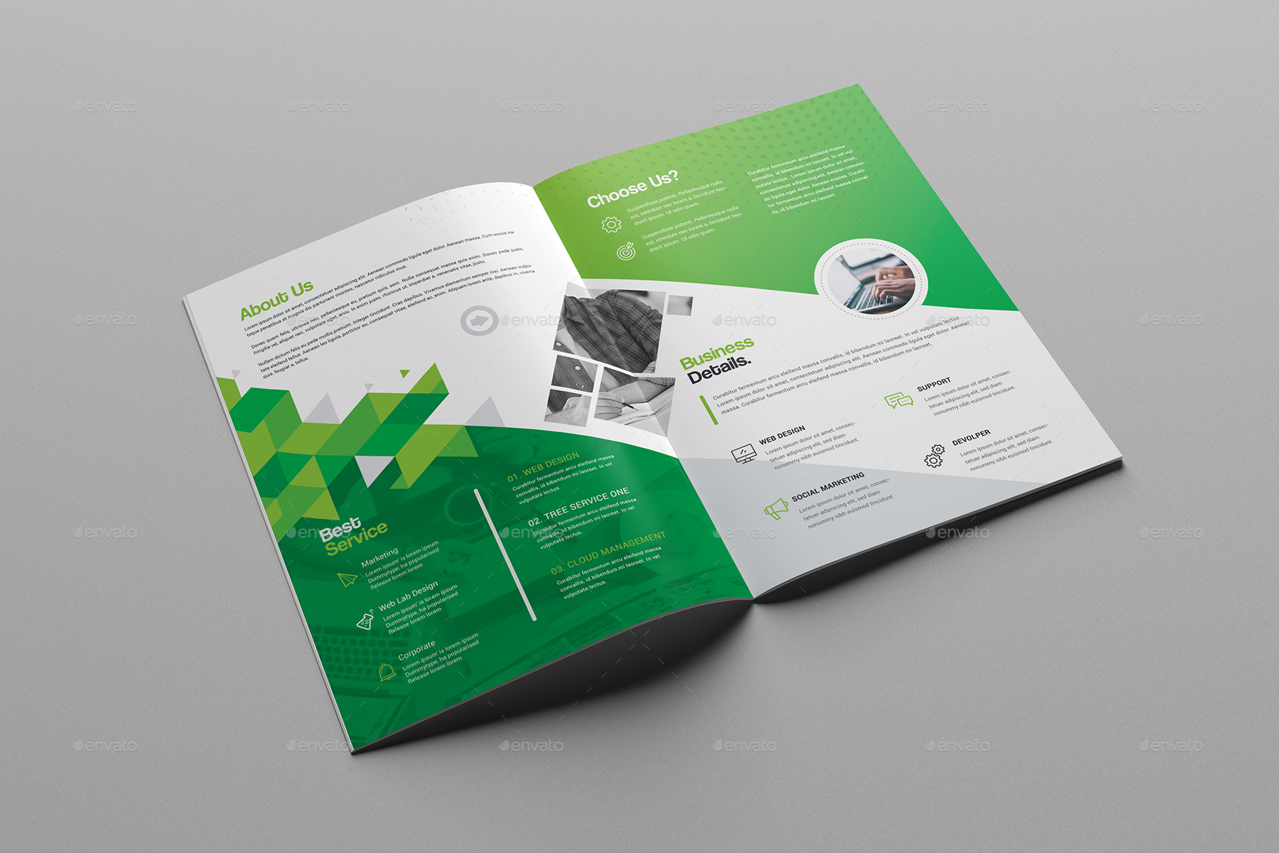 Bi Fold Brochure Template By Generousart Graphicriver