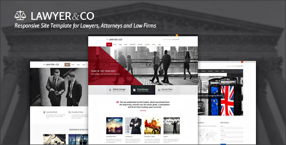 Image of Lawyer&Co | Responsive Site Template for Law-Related Companies