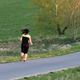 Pretty sporty woman jogging at park in sunrise - PhotoDune Item for Sale