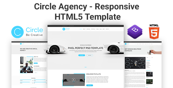 Circle Agency - Responsive HTML5 Template - Corporate Site Templates