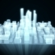 Abstract Futuristic City Hologram on Black Background Seamless Loop - VideoHive Item for Sale