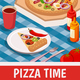 Pizza Time Isometric Poster