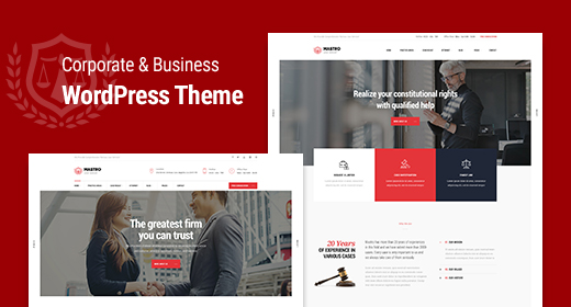 Business, Finance & Corporate WordPress Theme