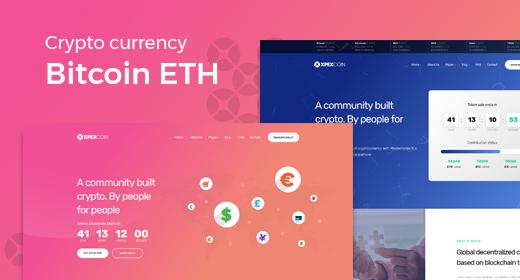Crypto Currency Bitcoin ETH WordPress Theme