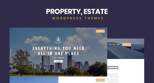Modern Real Estate Property WordPress Themes