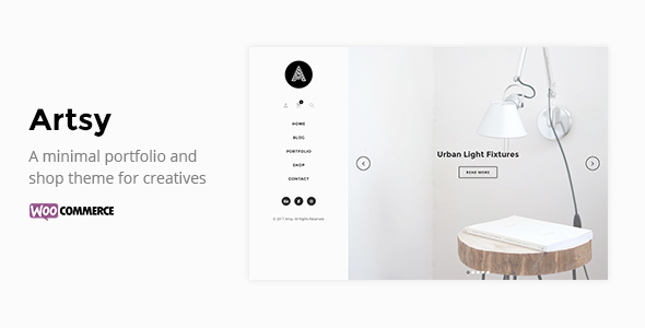 Artsy - A Minimal Portfolio and Shop Theme