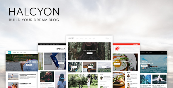 Halcyon - A Multipurpose WordPress Blog Theme - Personal Blog / Magazine
