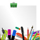 Stationery Colored Background