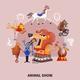 Circus Cartoon Composition