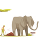 Elephant at Zoo Cartoon Composition - GraphicRiver Item for Sale