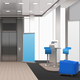 Realistic Lobby Interior Blue Elements - GraphicRiver Item for Sale