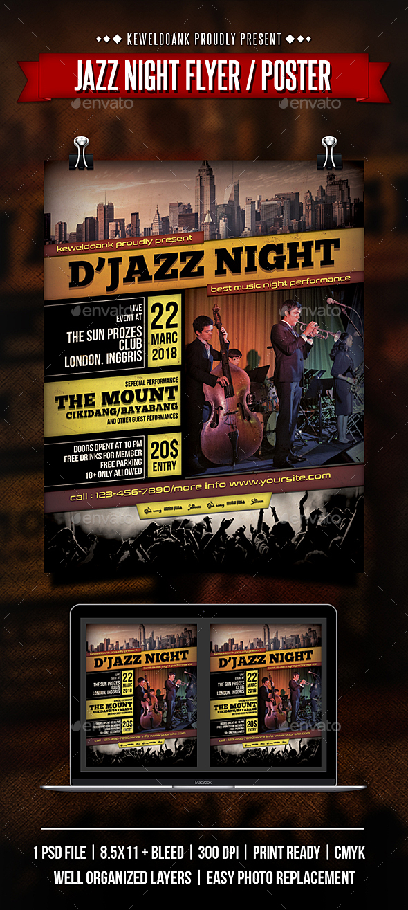 Jazz Night Flyer / Poster - Concerts Events