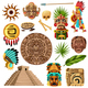 Mayan Traditional Cartoon Set - GraphicRiver Item for Sale
