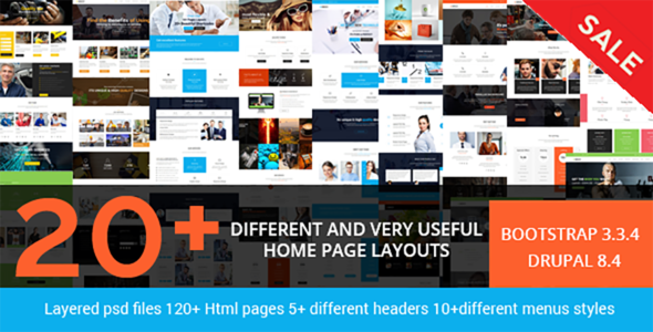 Brezz - Responsive Multi-Purpose Drupal 8 Theme