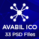 AVABIL ICO -  Bitcoin, Cryptocurrency, ICO Wallet Landing Page