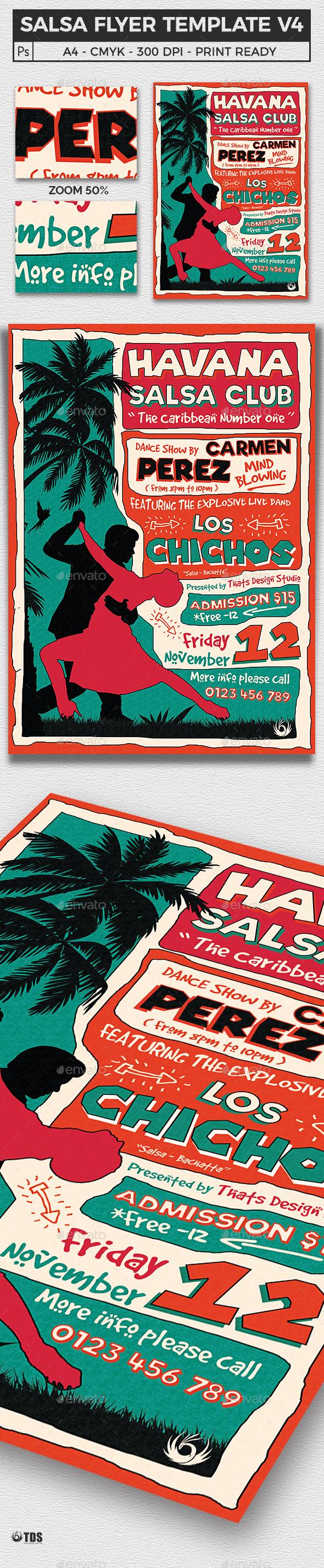 Salsa Flyer Template V4 - Events Flyers