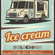 Vintage Colored Fresh Ice Cream Poster - GraphicRiver Item for Sale