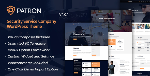 Patron - Security Service Company WordPress Theme
