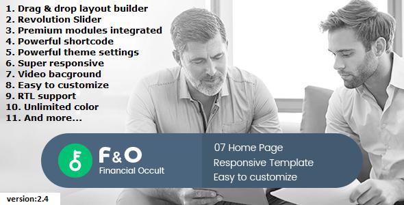 F&O - Finance Occult Multipurpose Drupal 8.5