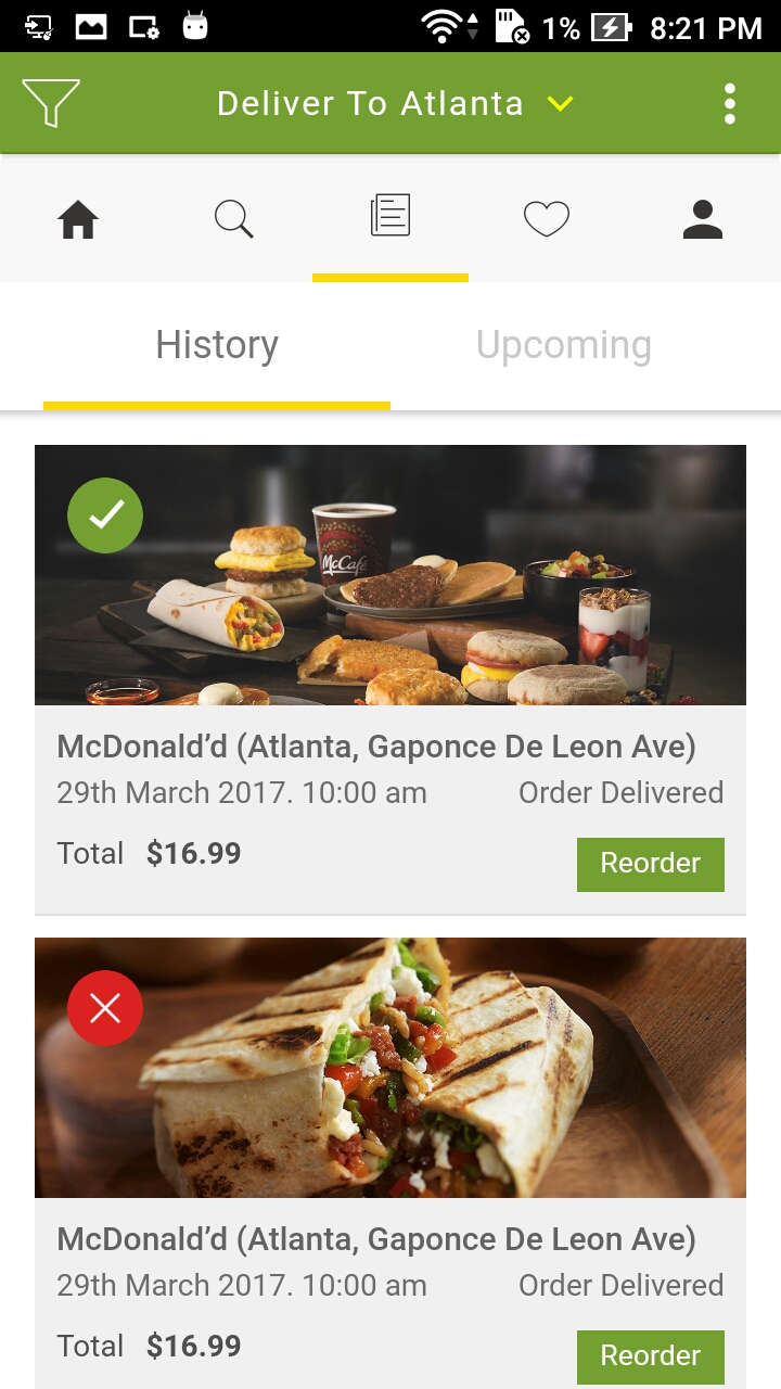 On Demand Food Delivery App Template