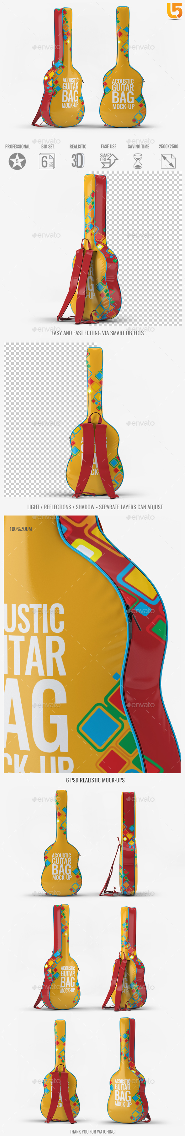 Acoustic Guitar Bag Mock-Up - Miscellaneous Print