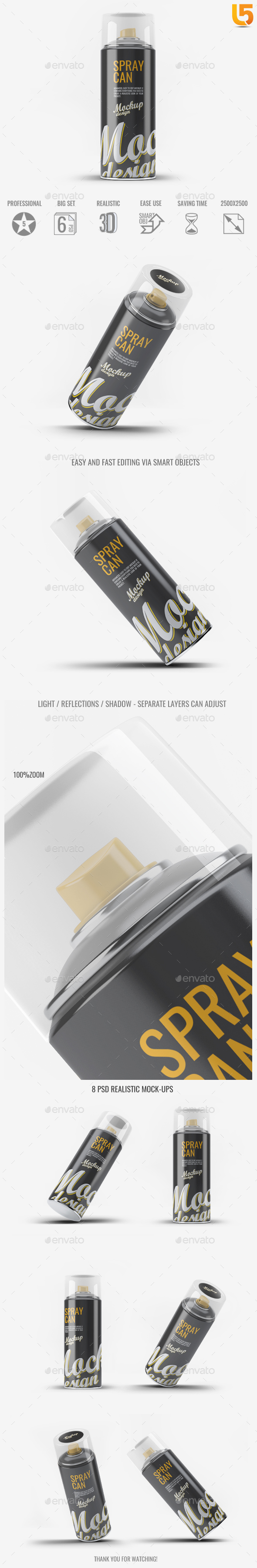 Spray Can Mock-Up - Miscellaneous Packaging