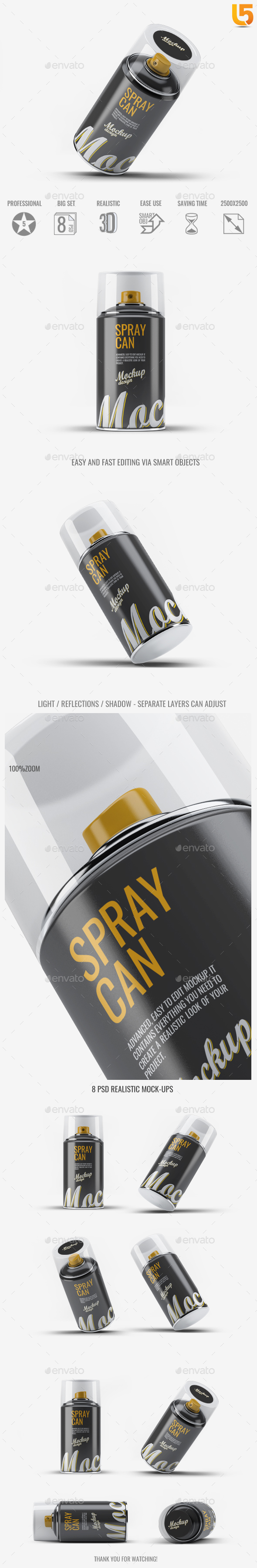 Spray Can Mock-Up v.2 - Miscellaneous Packaging