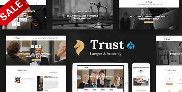 Image of Trust - Lawyer & Attorney Business Drupal 8.4 Theme