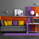 Colorful teen bedroom - PhotoDune Item for Sale