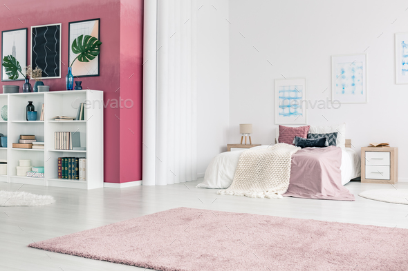 Pink living room interior - Stock Photo - Images