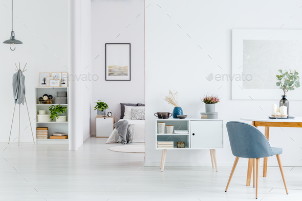 White open space interior - Stock Photo - Images