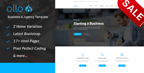 Image of ollo Business & Agency Drupal 8.4 Theme
