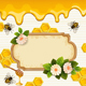 Background with Bees and Honey - GraphicRiver Item for Sale